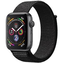Apple Watch 4 GPS 44mm Space Gray Aluminum Case With Black Sport Loop Band